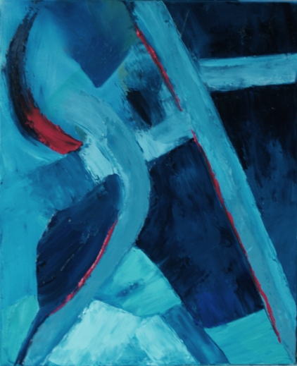 ALL IN BLUE oil on canvas 2009