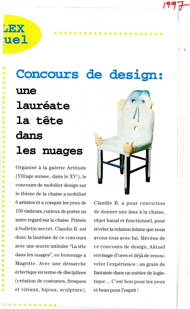 Article concours de chaises First Prize 1997