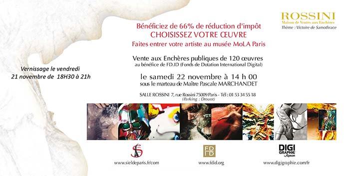 Invitation Vente aux enchères salle des ventes Rossini samedi 22 novembre à 14h