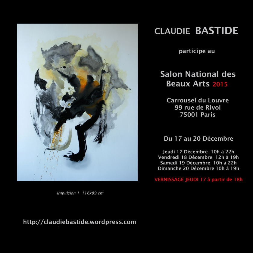 Invitation perso Salon Beaux arts
