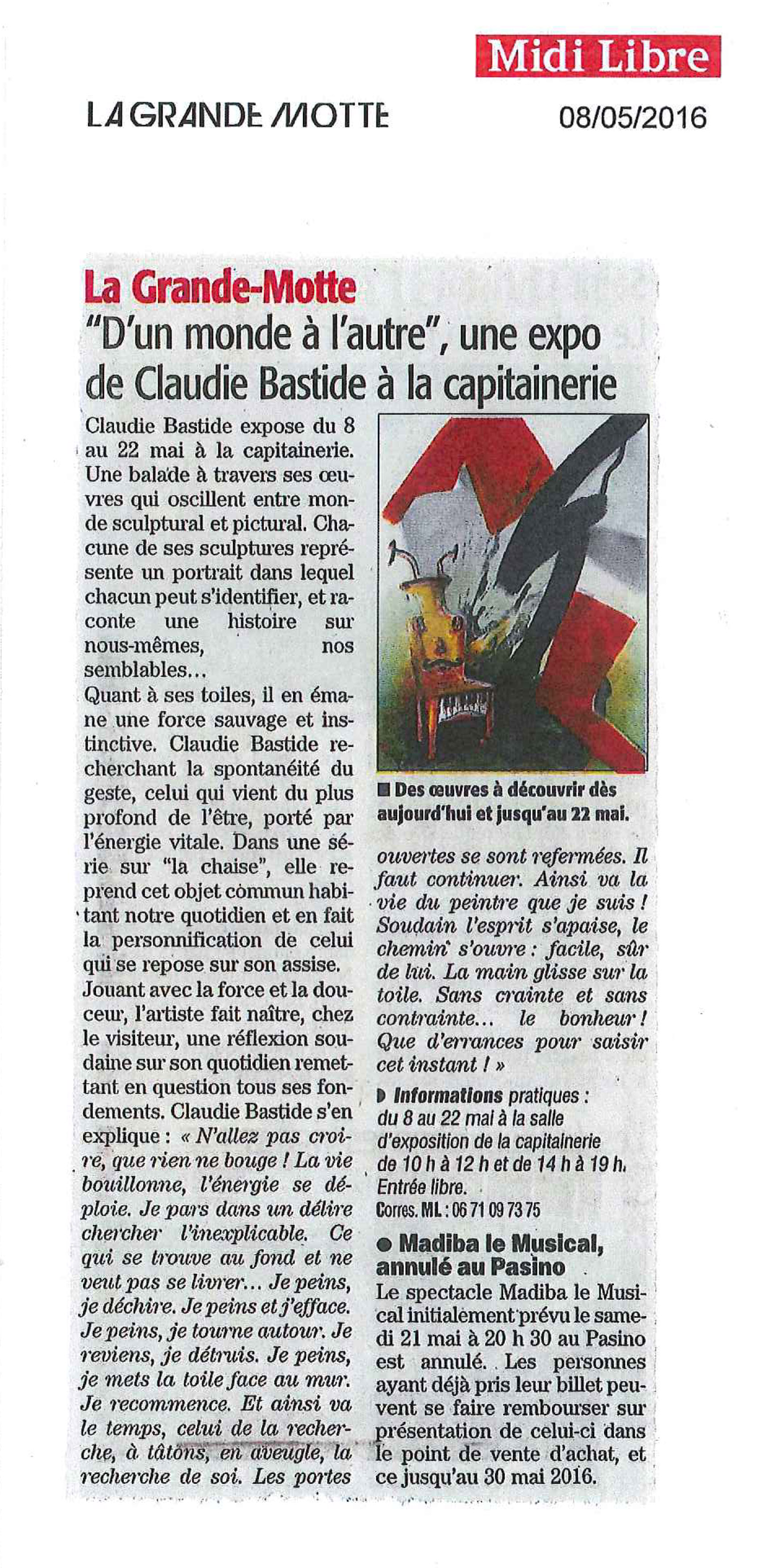 Midi Libre article 08 05 2016